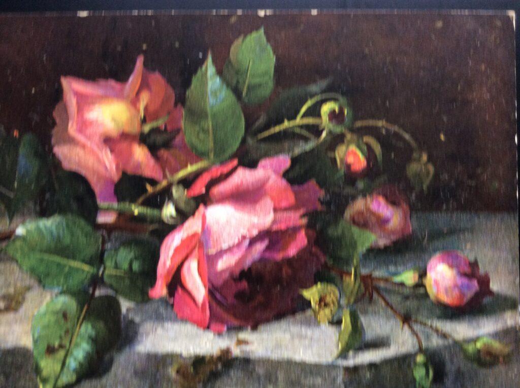 Ernest Nister Rose postcard