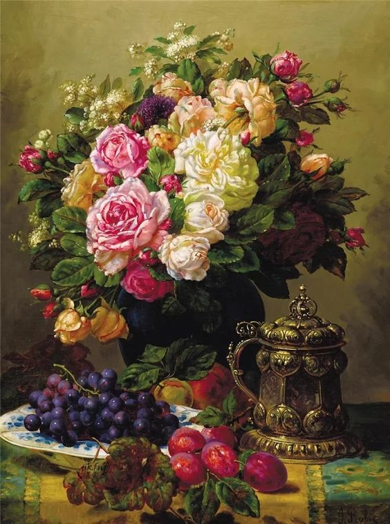 An exquisite painting by Jean-Baptiste Robie.