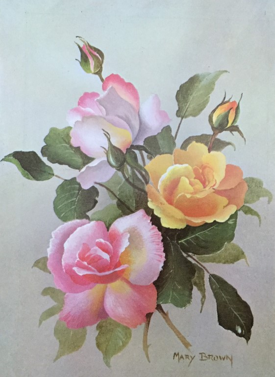 A more recent but very pretty card by the artist Mary Brown and published by the Medici Society Ltd of London.