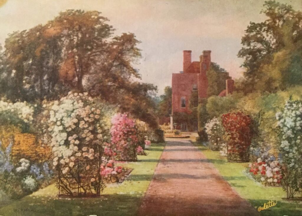 The Rose Walk painting