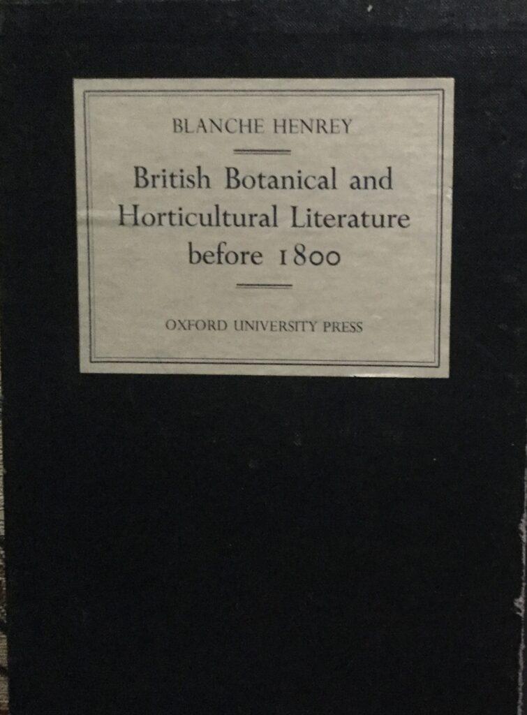 Botanical Literature Book