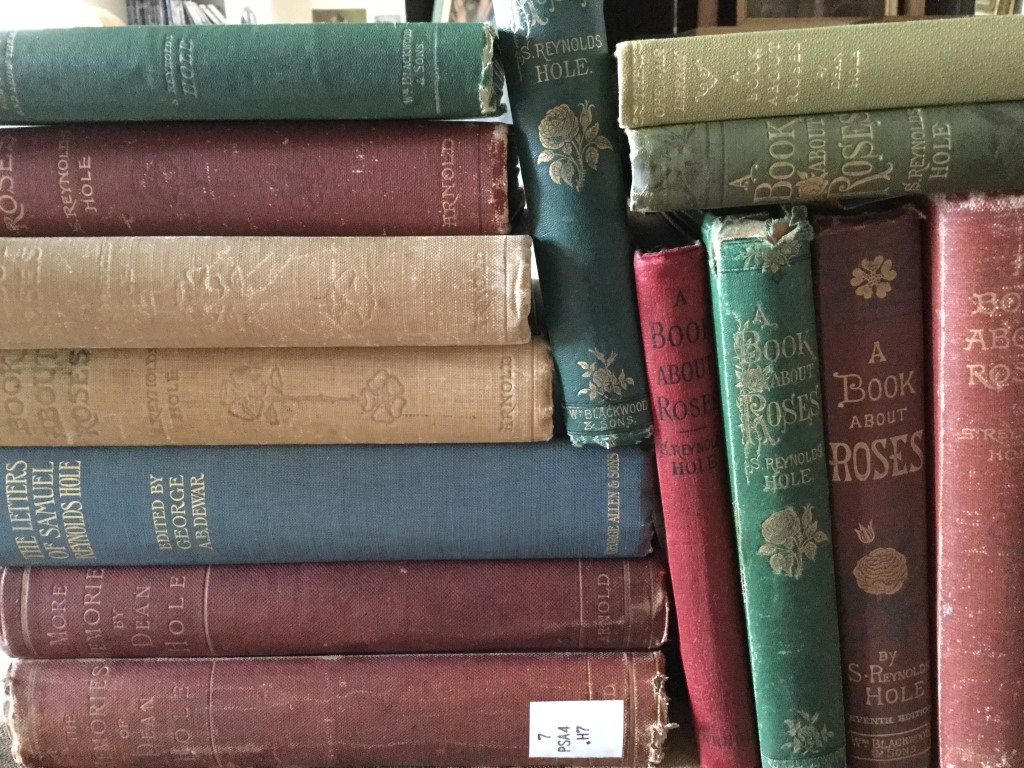 Different versions of a book about roses