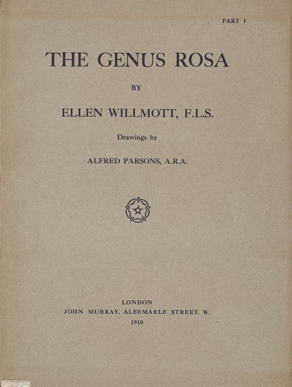 The Genus Rosa book by Ellen Willmott