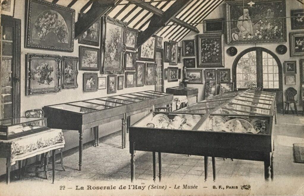 Inside the rose museum