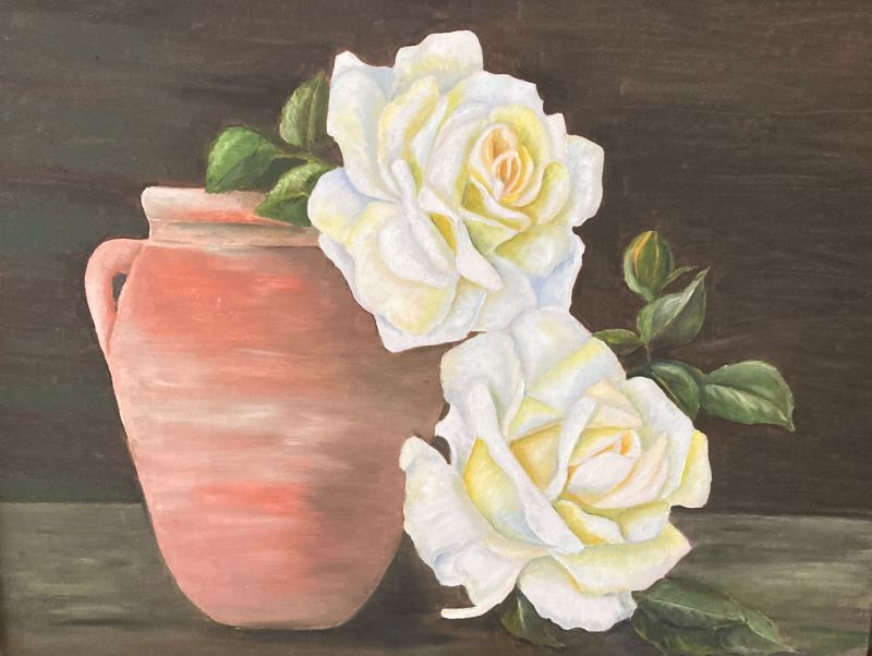 Roses and terracotta