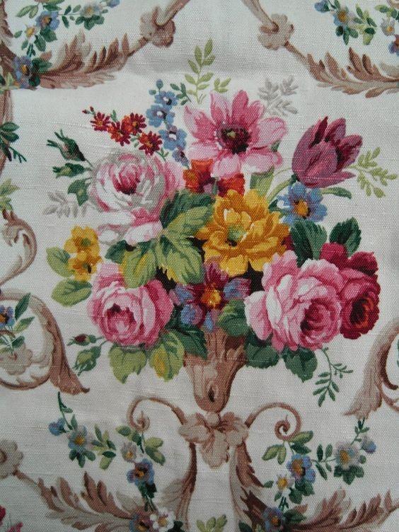 Old rose fabric design