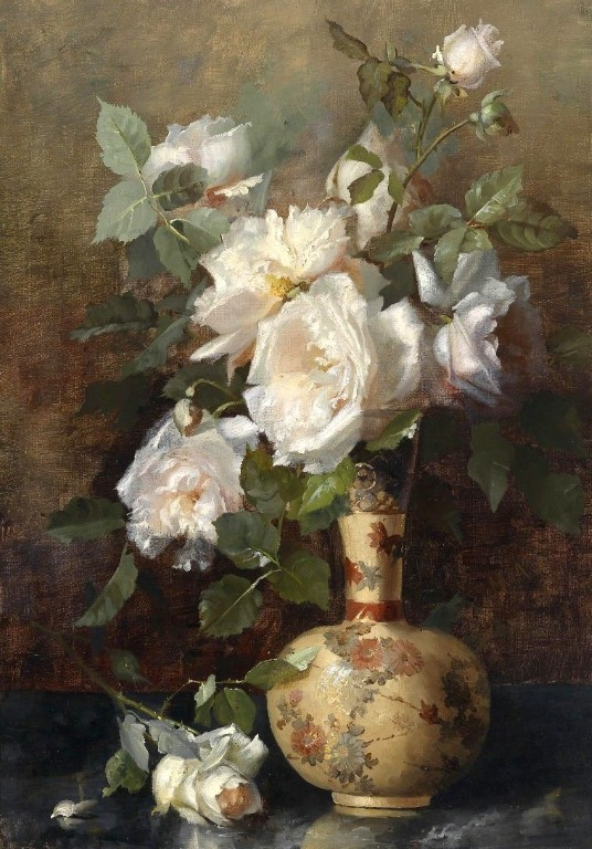 Another beautiful painting by Marie Nyl-Frosch (1857-1914).
