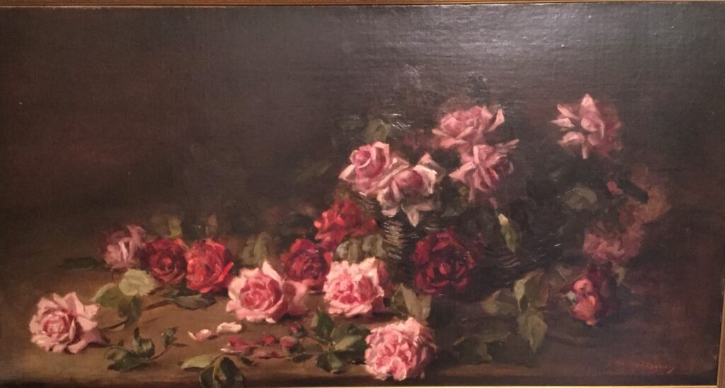 The painting of Roses by Anna Van Heddegham.
