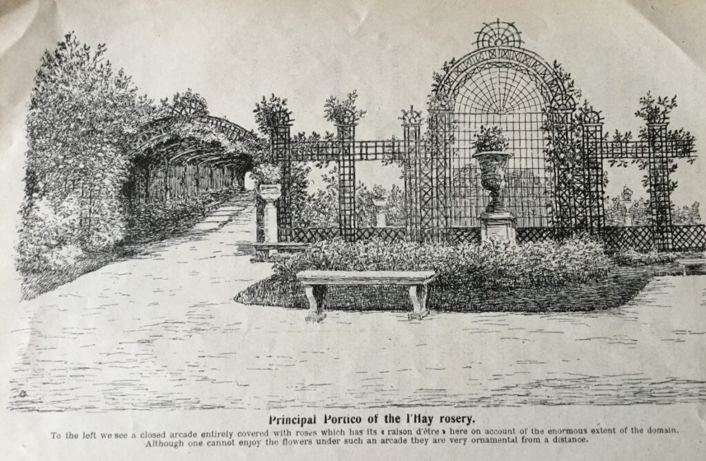 Drawing of portico at L'Hays rosery