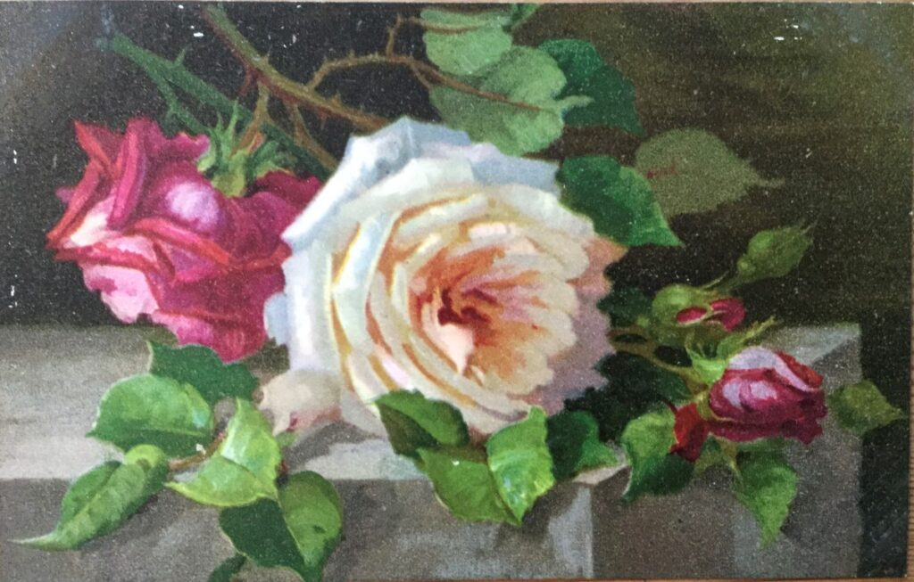A postcard painting from the album.