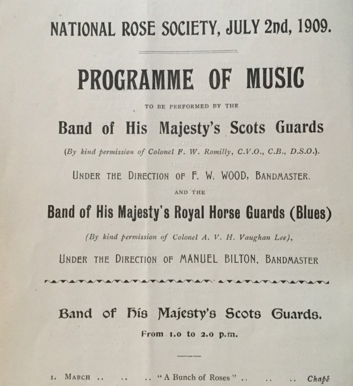 National Rose Society Programme of Music