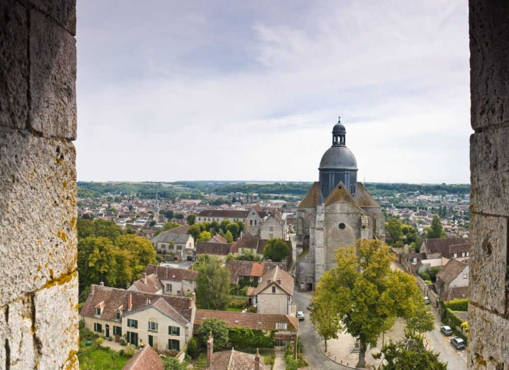 A view of Provins today - a well preserved medieval town.