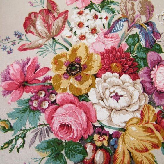 Rose fabric design