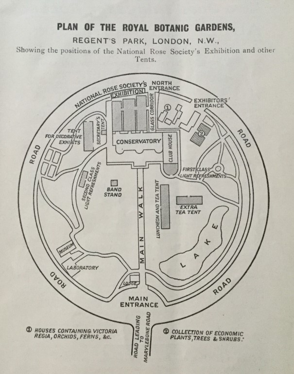 Plan of Royal Botanic Gardens