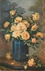 The second postcard painting from the set 'Fragrant Flowers'.